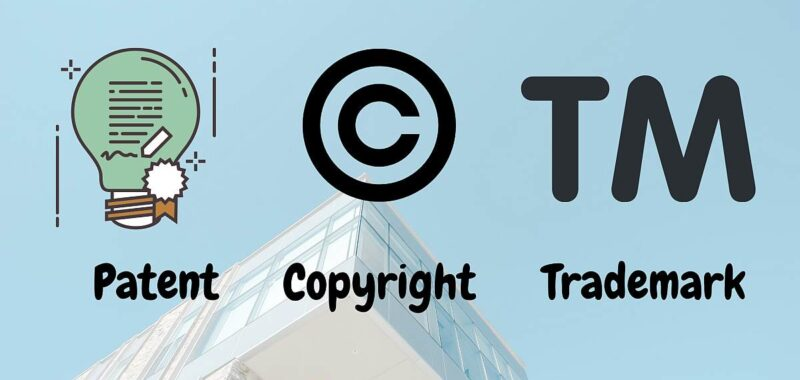Difference between Patent, copyright and TM